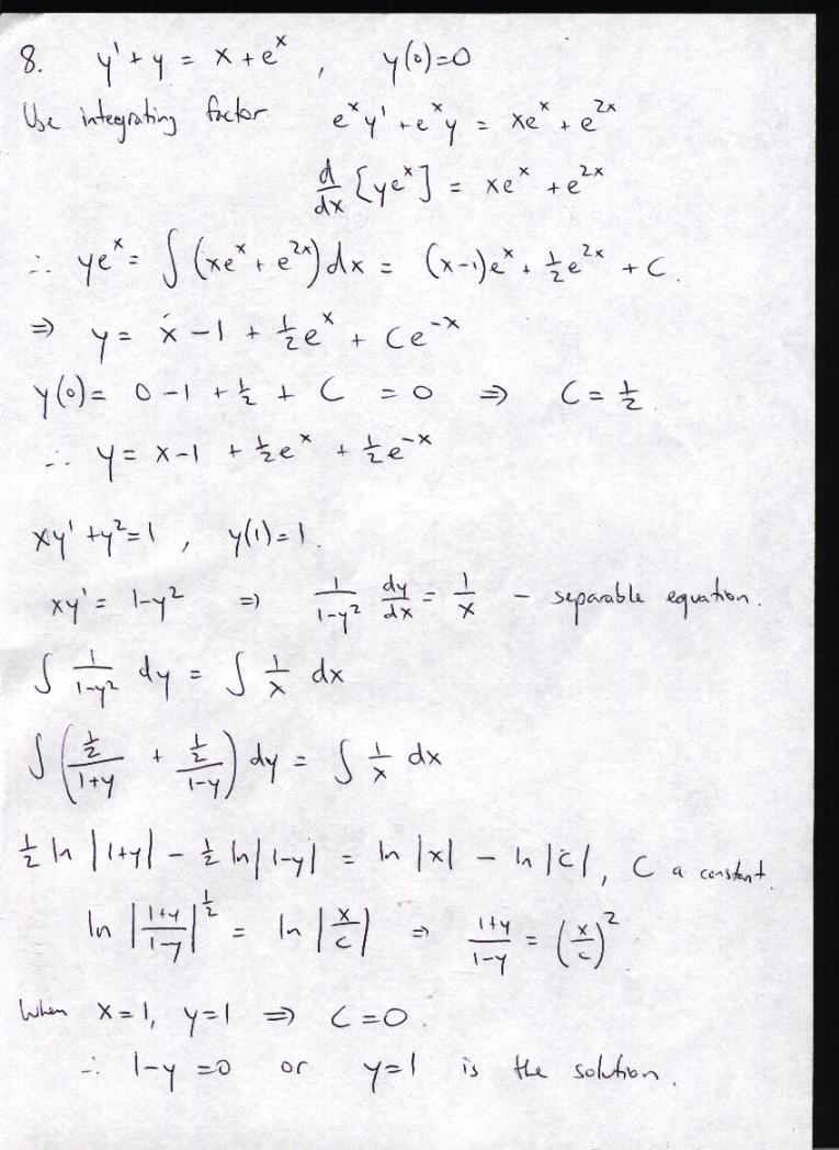 MT152 Multivariable Calculus and Differential Equations